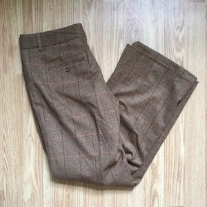 Express Editor Pants Plaid Wool Lined Trousers